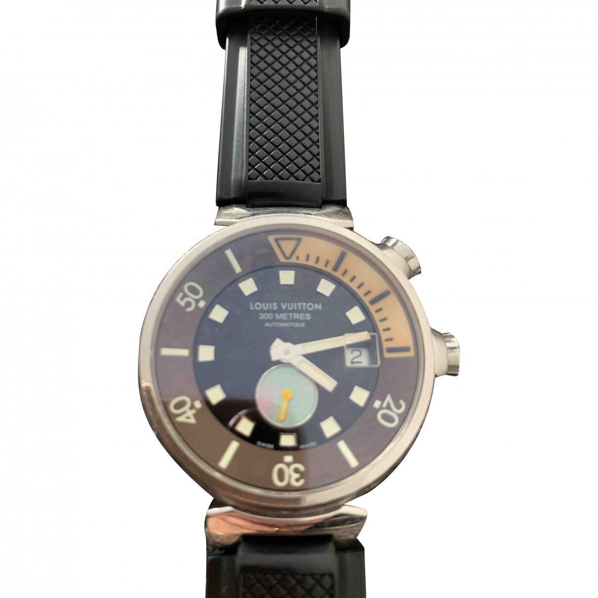 Louis Vuitton Tambour Brown Steel watch for Women \N