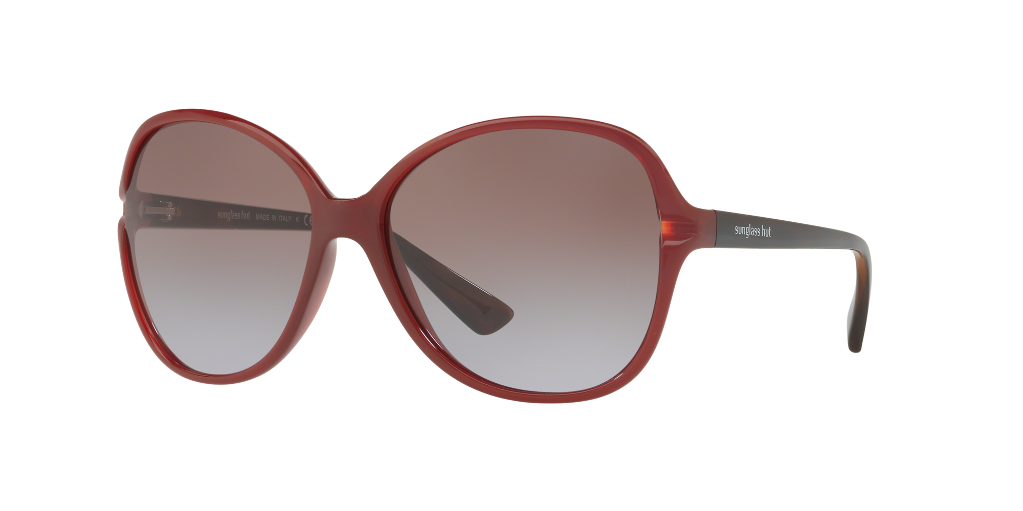 Sunglass Hut Collection Woman  HU2001 -  Frame color: Red, Lens color: Brown, Size 60-16/130