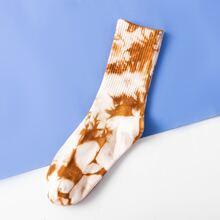 Maenner Socken mit Batik