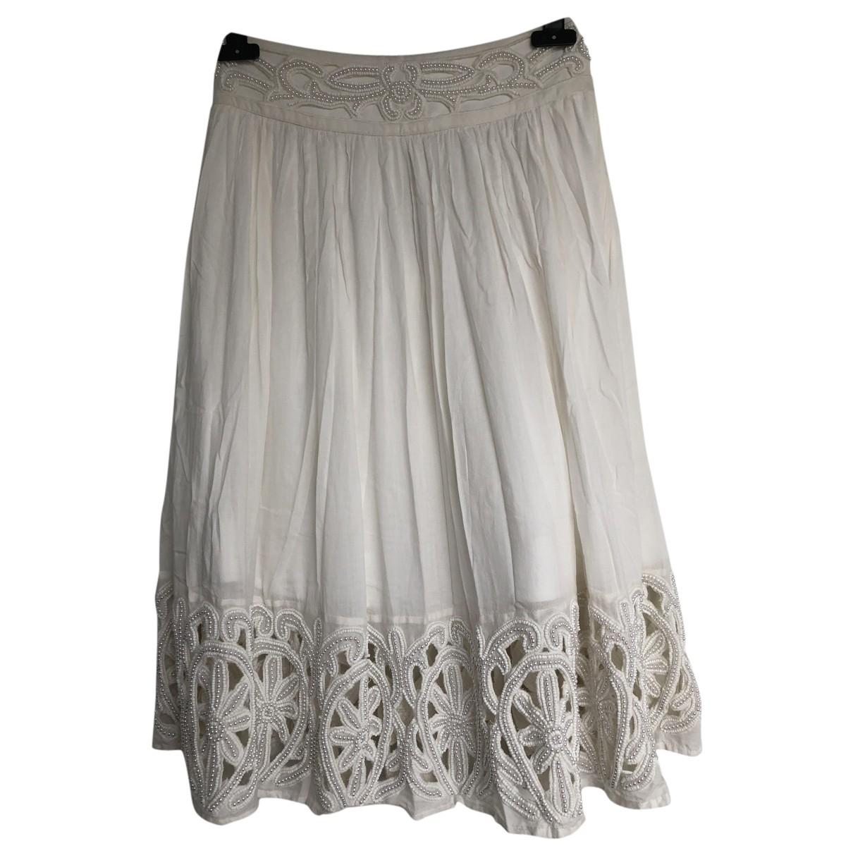 Alice & Olivia - Jupe   pour femme en coton - blanc