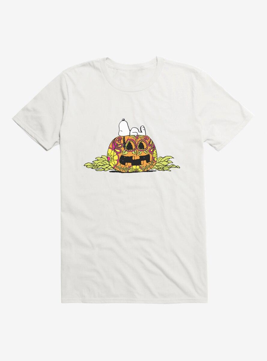 Peanuts Day Of The Dead Sugar Pumpkin House T-Shirt