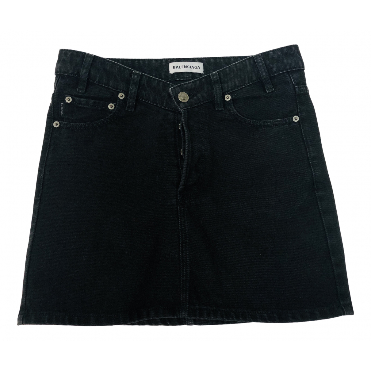 Balenciaga \N Rocke in  Schwarz Denim - Jeans