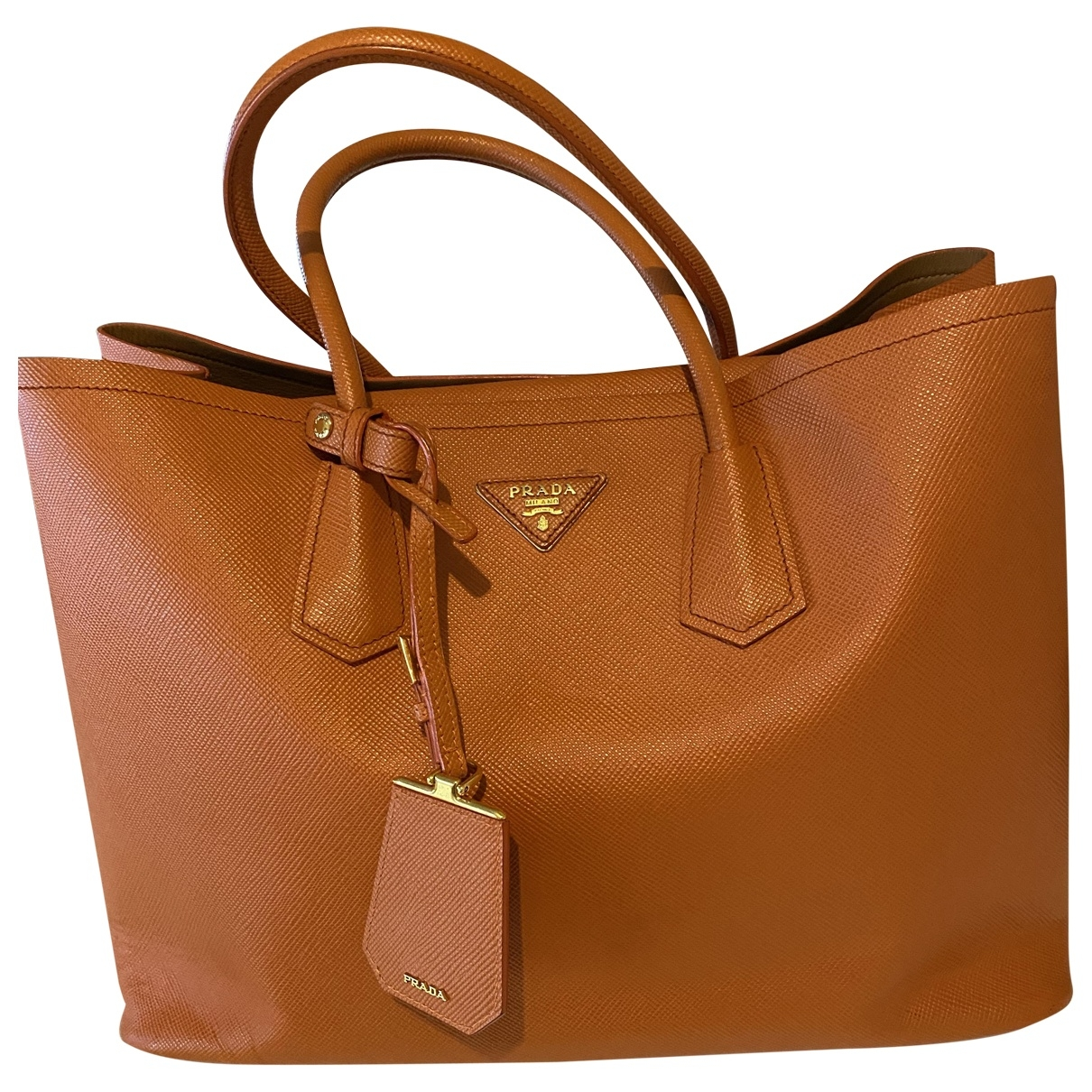Prada \N Orange Leather handbag for Women \N