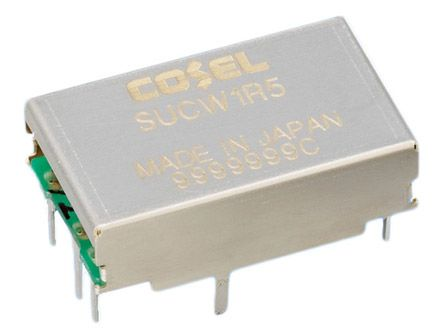 Cosel 1.56W Isolated DC-DC Converter Through Hole, Voltage in 18 → 36 V dc, Voltage out ±12V dc