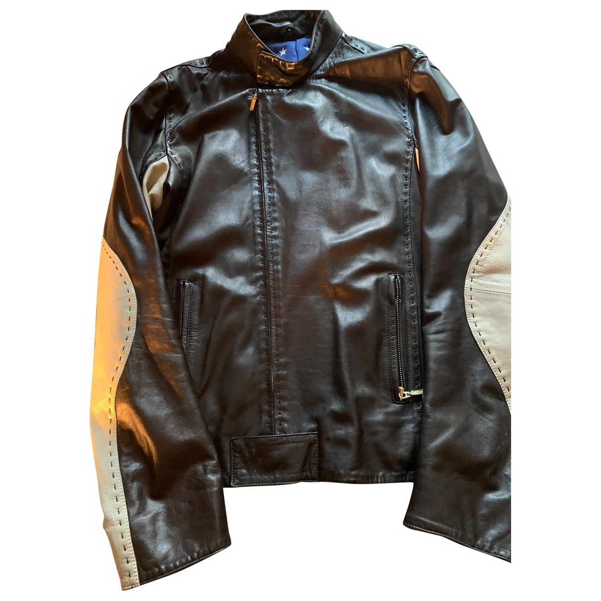 Non Signé / Unsigned \N Black Leather jacket  for Men S International
