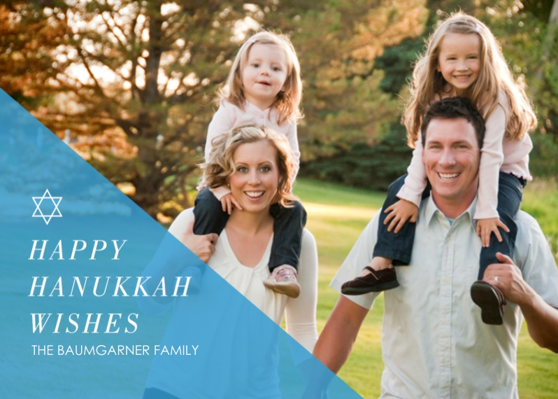 Hanukkah Photo Cards Flat Glossy Photo Paper Cards with Envelopes, 5x7, Card & Stationery -Happy Star Wishes