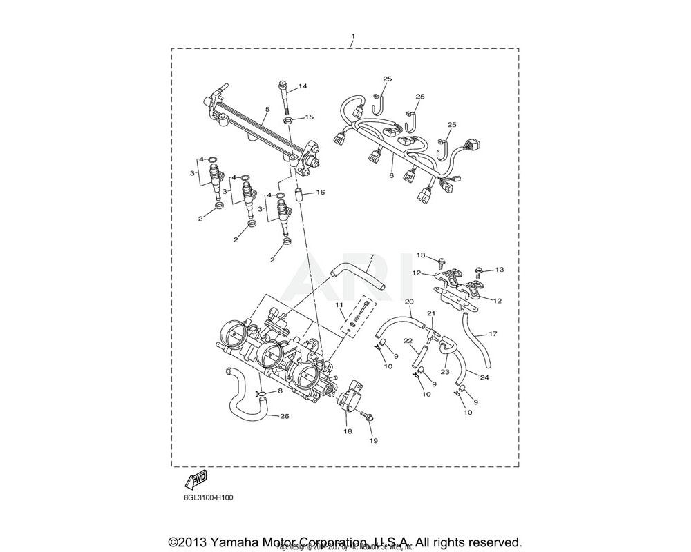 Yamaha OEM 8GL-13895-00-00 HOSE, AIR