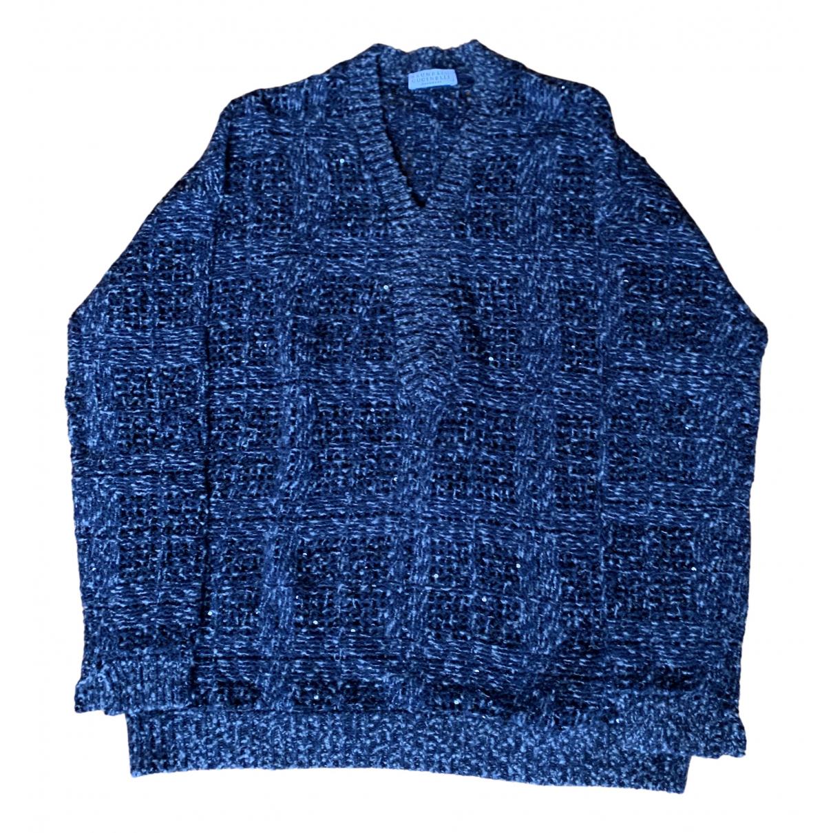 Brunello Cucinelli N Navy Wool Knitwear for Women 42 IT