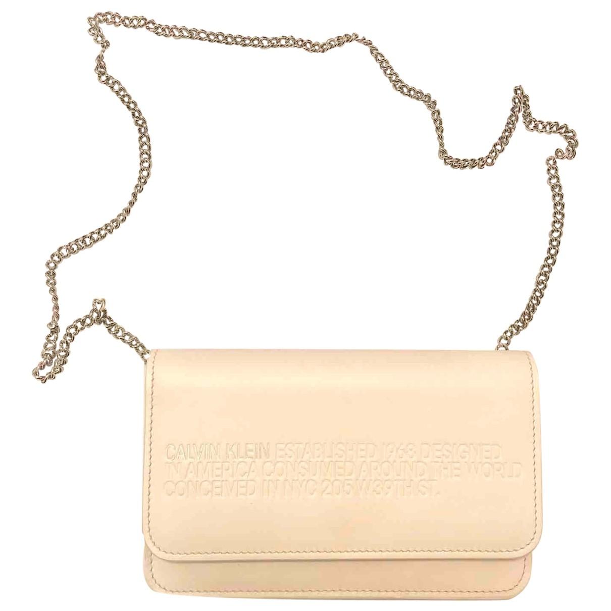 Calvin Klein 205w39nyc \N Handtasche in  Rosa Leder