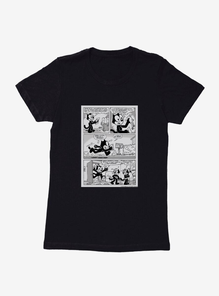 Felix The Cat Inheritance Comic Strip Womens T-Shirt