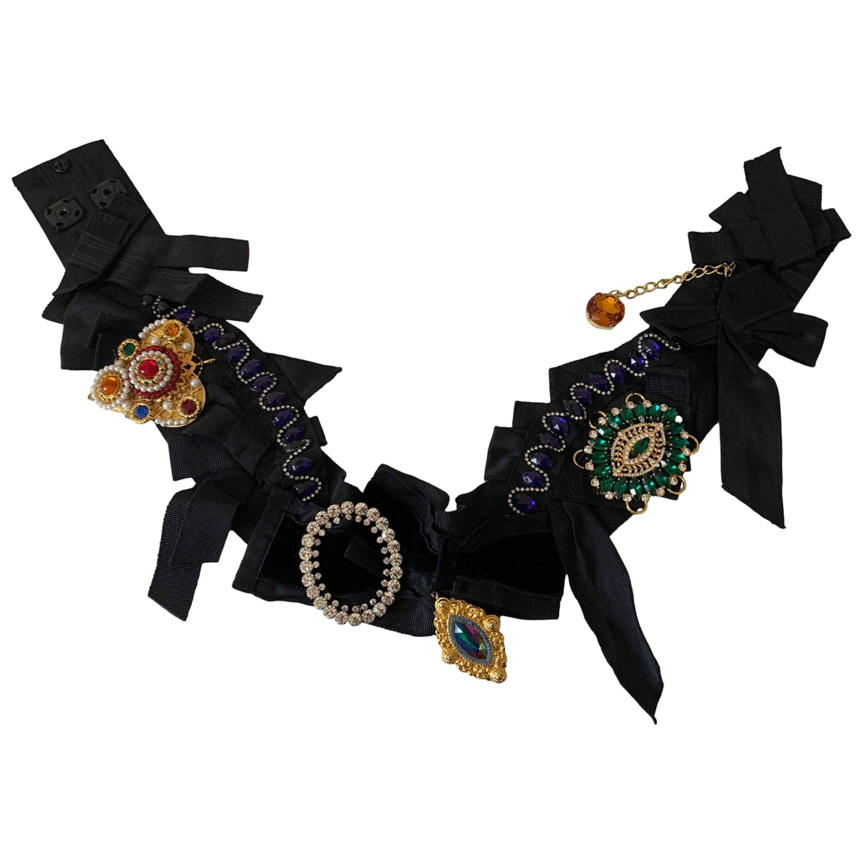 Dolce & Gabbana \N Black Cloth belt for Women 75 cm