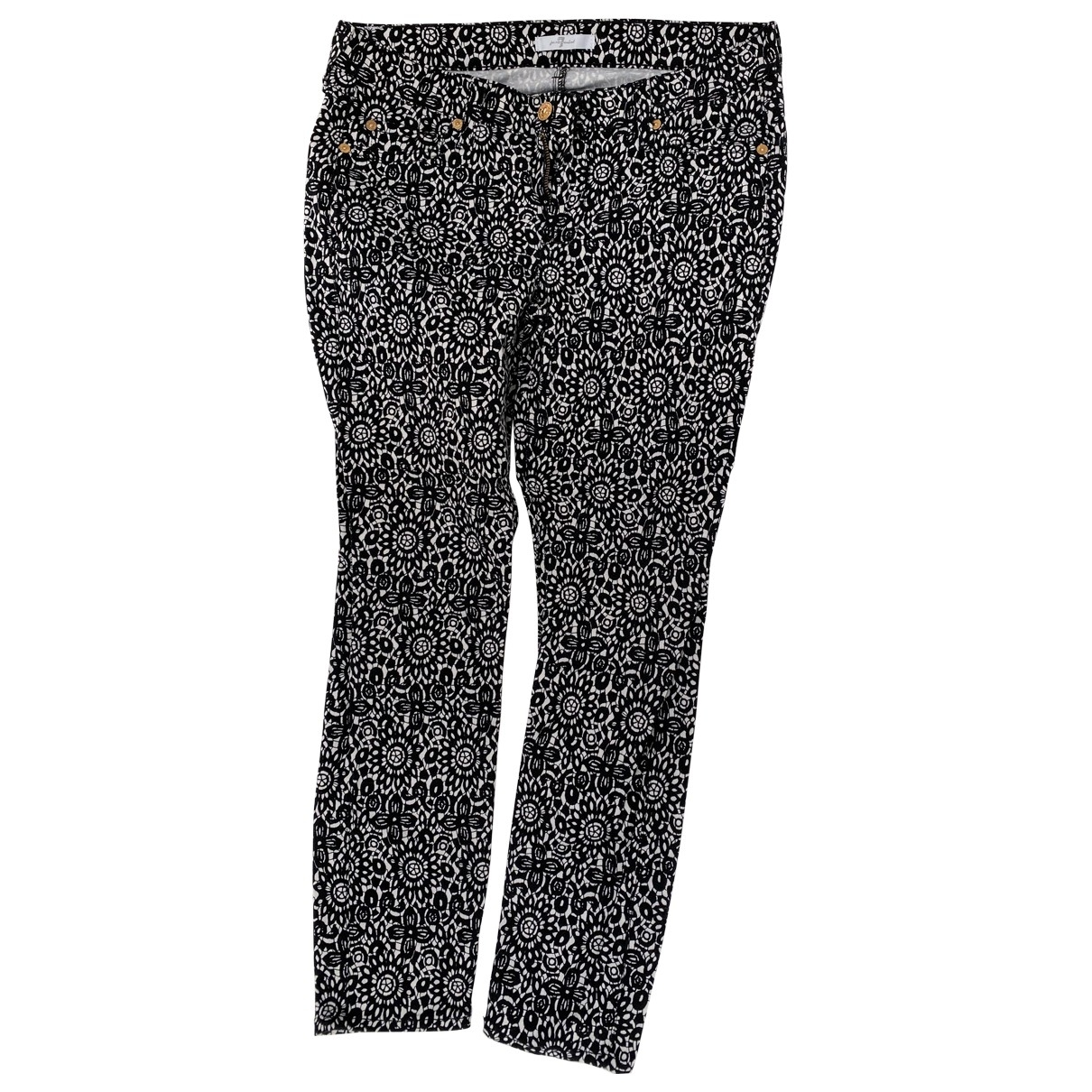 7 For All Mankind \N Black Cotton Jeans for Women 29 US