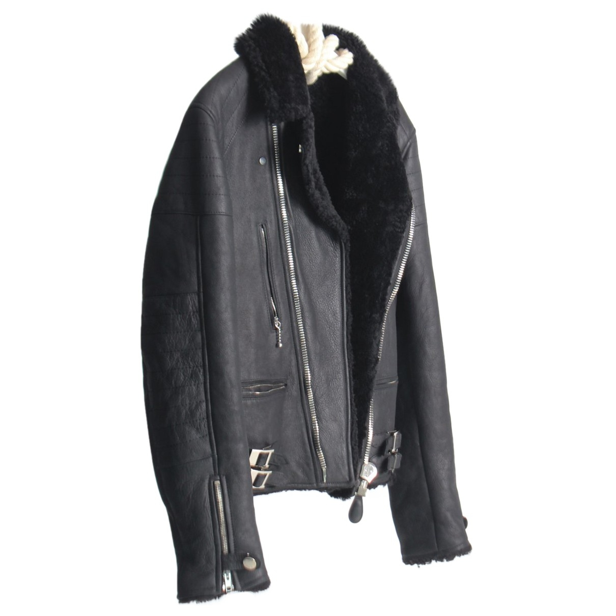 Givenchy \N Black Leather Leather jacket for Women 50-52 IT