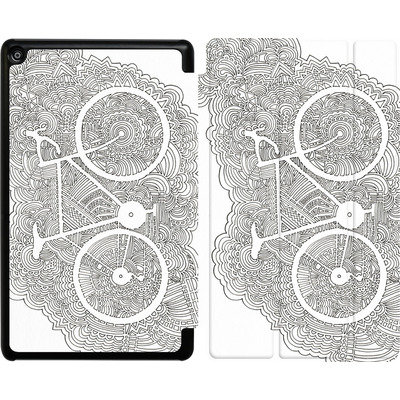 Amazon Fire HD 8 (2018) Tablet Smart Case - Bike Drawing Meditation von Kaitlyn Parker