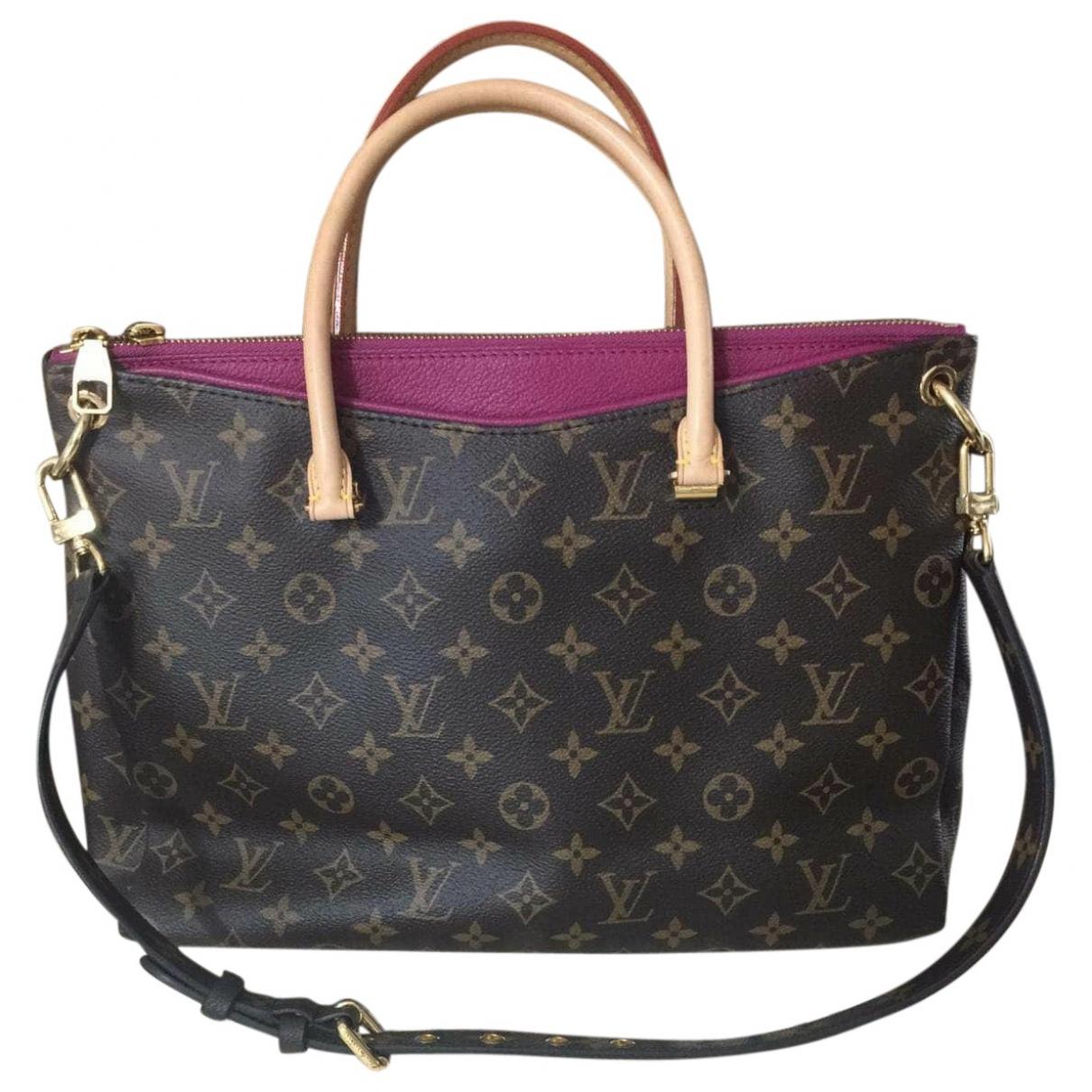 Louis Vuitton Pallas Brown Cloth handbag for Women \N