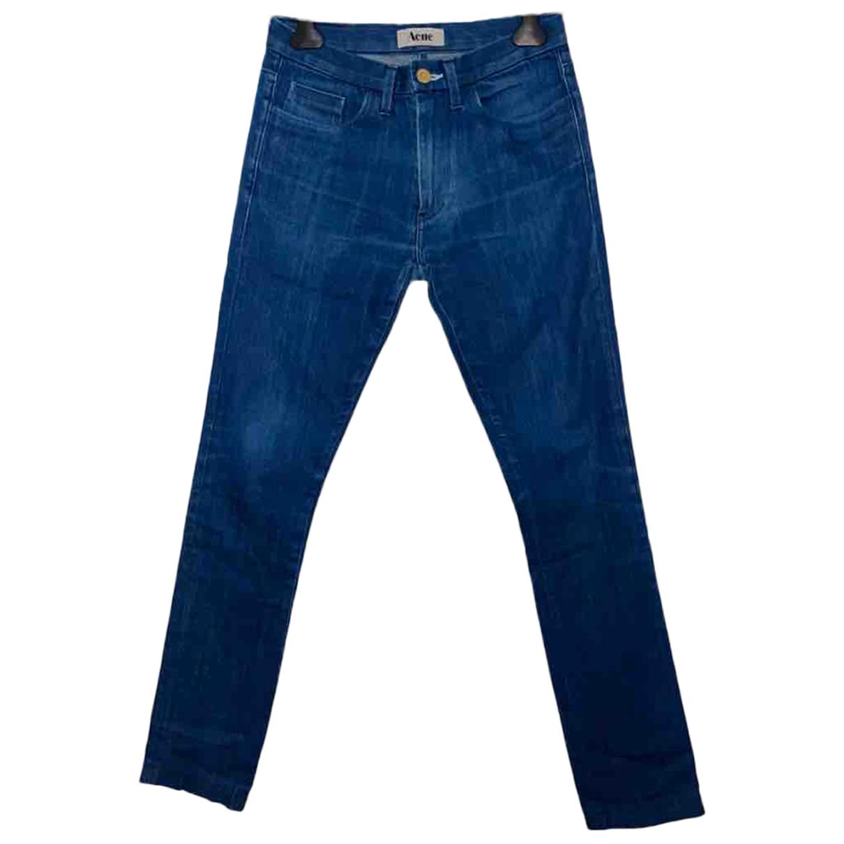 Acne Studios \N Blue Cotton Jeans for Men 38 FR