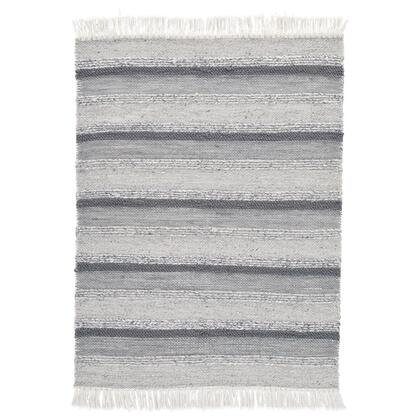 R404372 Derya 5' x 7' Hand-Woven Medium Rug For Indoor/Outdoor Use with Fringe Accents in