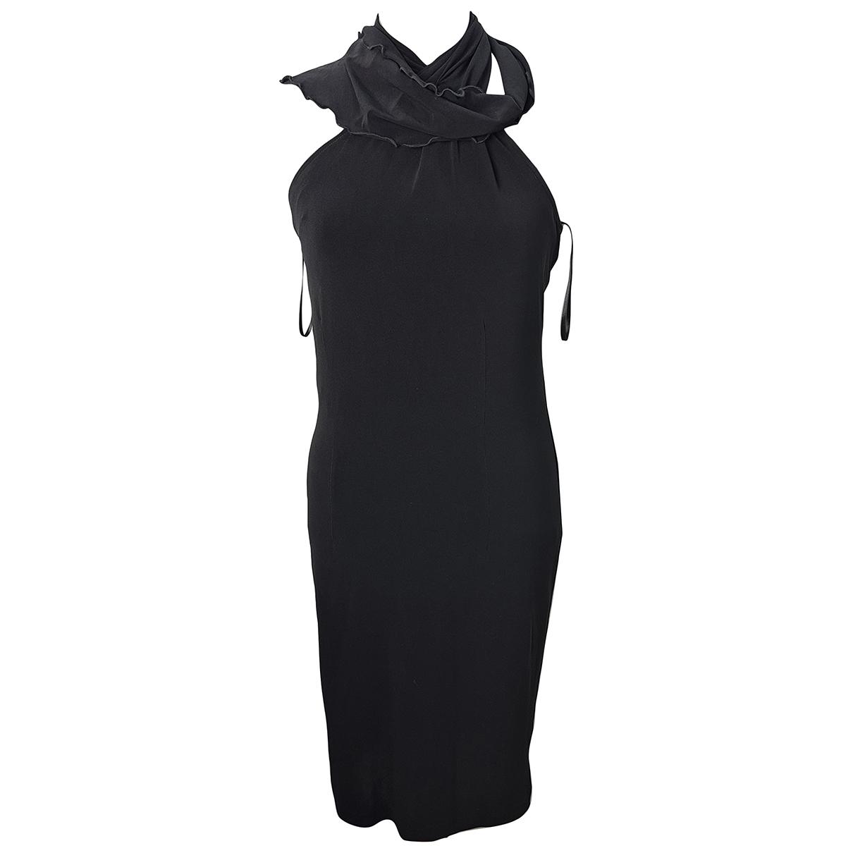 Trussardi \N Kleid in  Schwarz Polyester