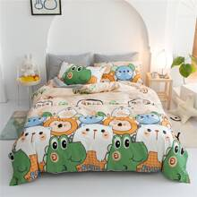 Kids Cartoon Graphic Bedding Set Without Filler