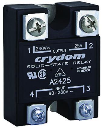 Sensata / Crydom 110 A Solid State Relay, Zero Cross, Panel Mount, SCR, 280 V rms Maximum Load