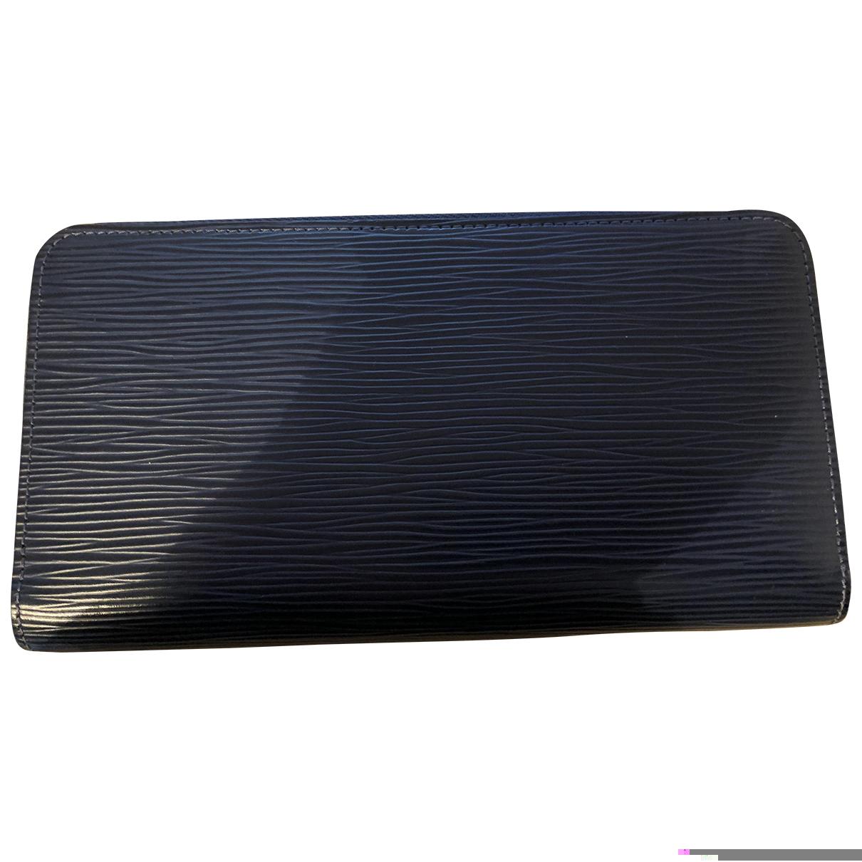 Louis Vuitton Zippy Portemonnaie in  Blau Leder