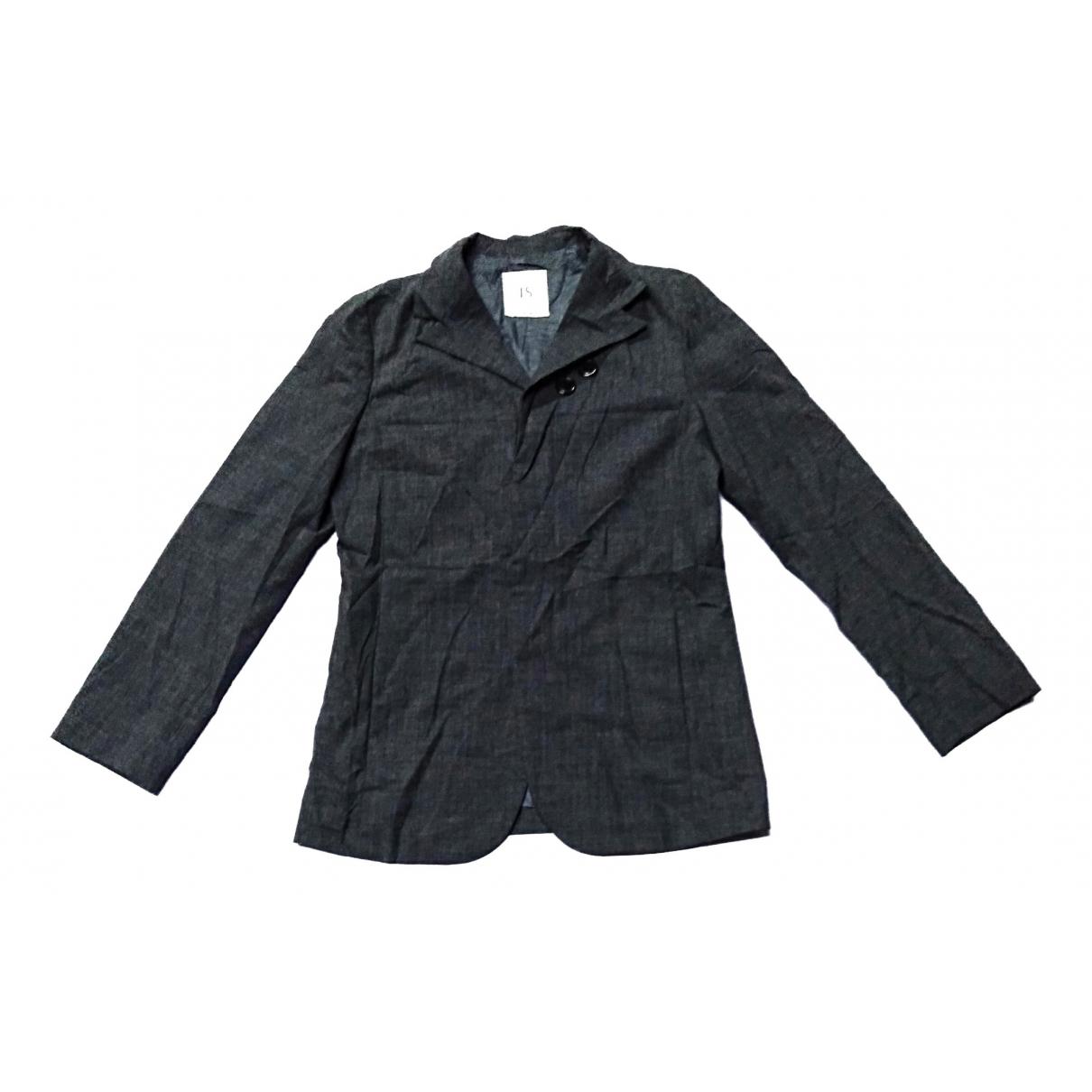 Issey Miyake - Veste   pour femme en coton - gris
