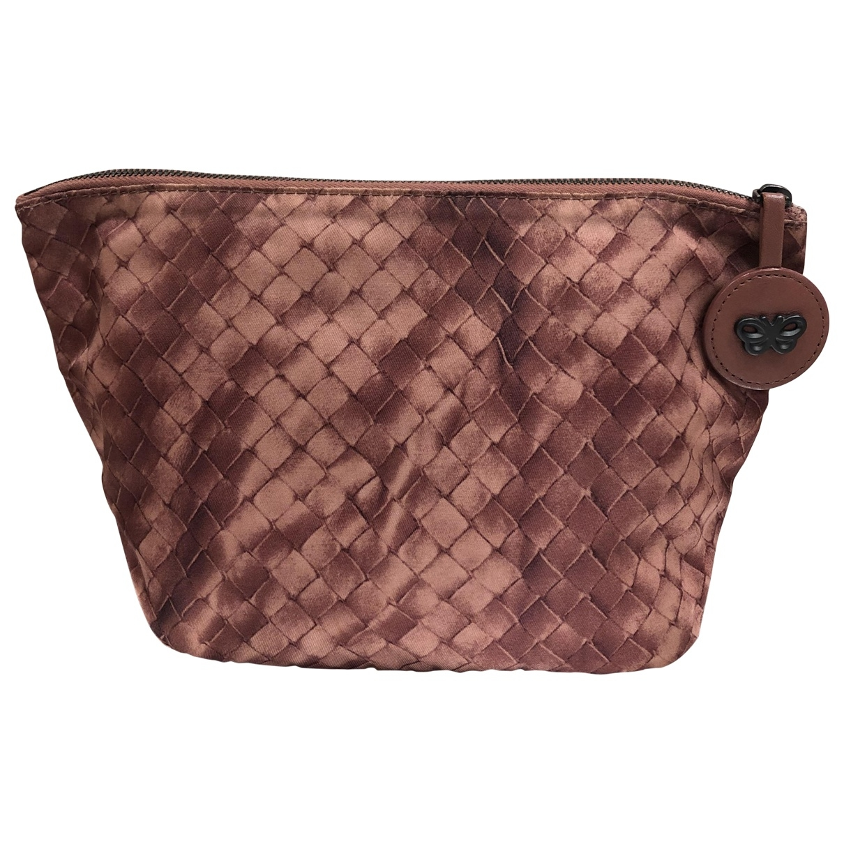 Bottega Veneta \N Clutch in  Bordeauxrot Leinen