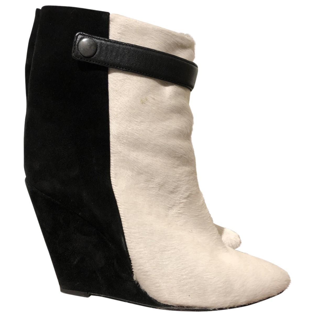 Isabel Marant - Boots   pour femme en suede - multicolore
