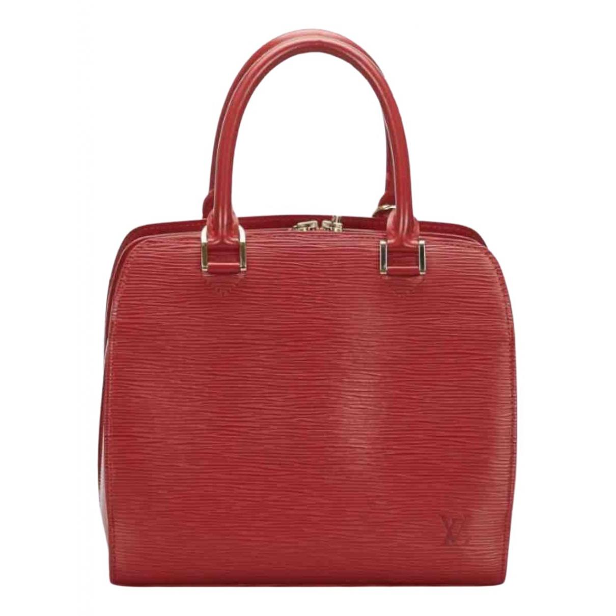 Louis Vuitton - Sac a main Pont Neuf Vintage  pour femme en cuir - rouge