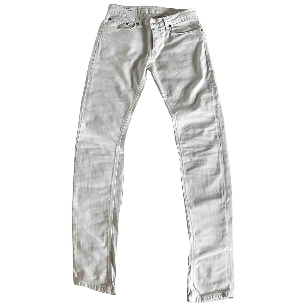 Dondup \N White Cotton - elasthane Jeans for Women 26 US