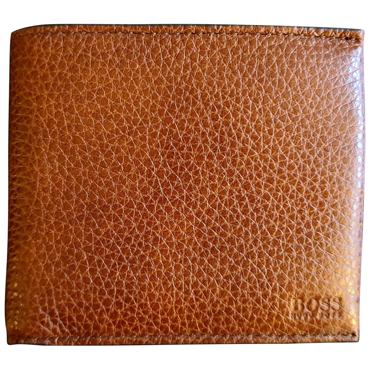 Boss - Petite maroquinerie   pour homme en cuir - marron
