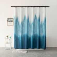 Gradient Color Shower Curtain With 12pcs Hook