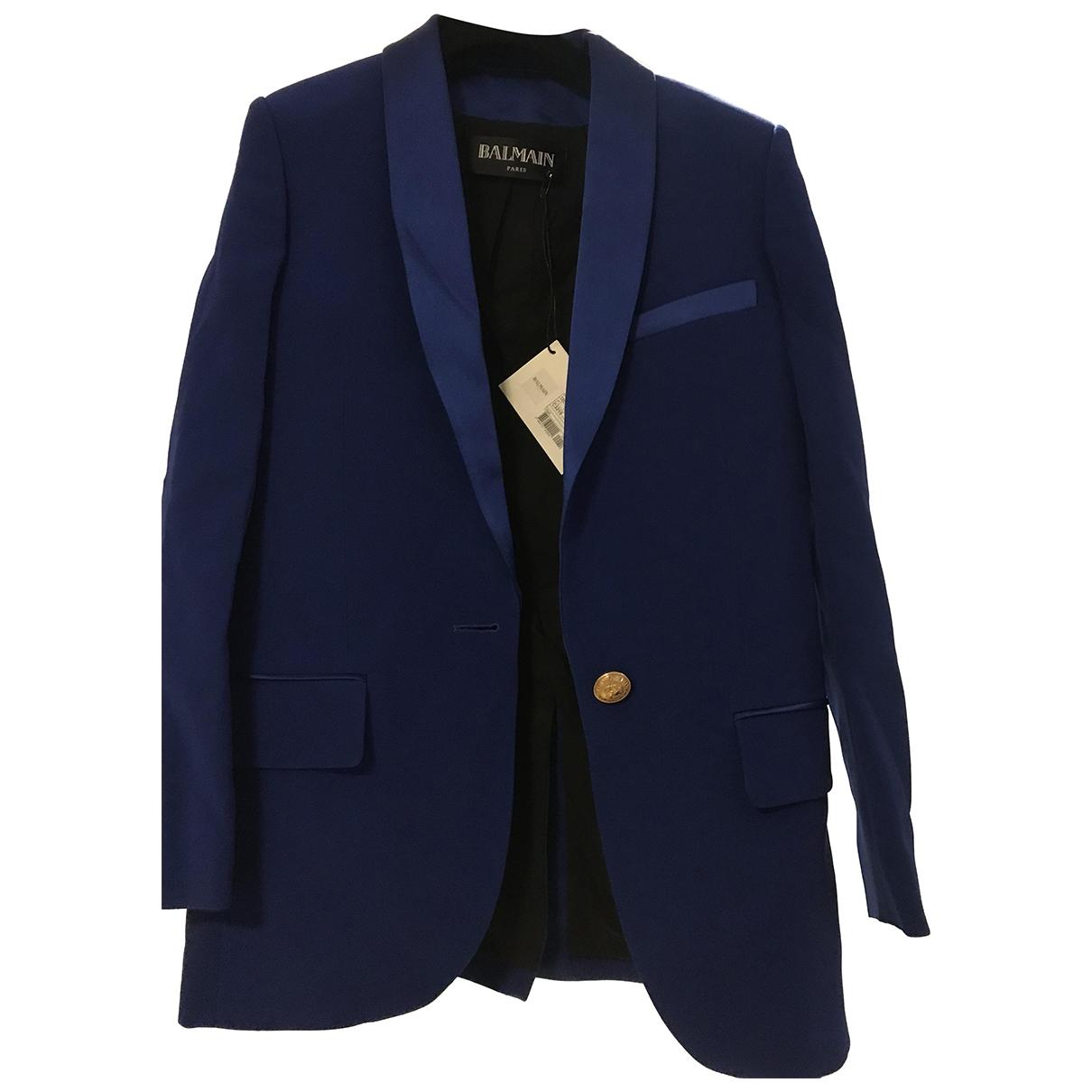 Balmain - Veste   pour femme - bleu