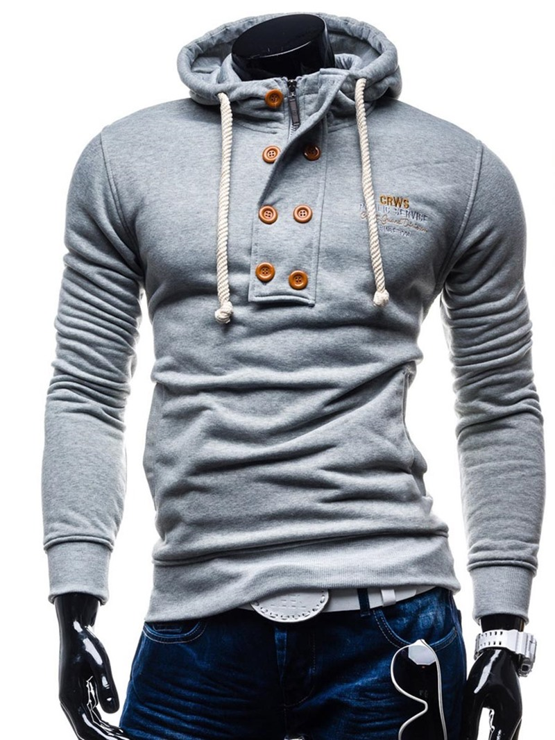 Ericdress Letter Pullover Men's Slim Hoodies