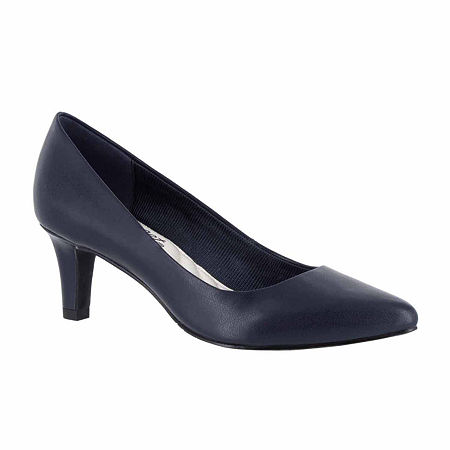 Easy Street Womens Pointe Pumps Spike Heel, 10 Medium, Blue