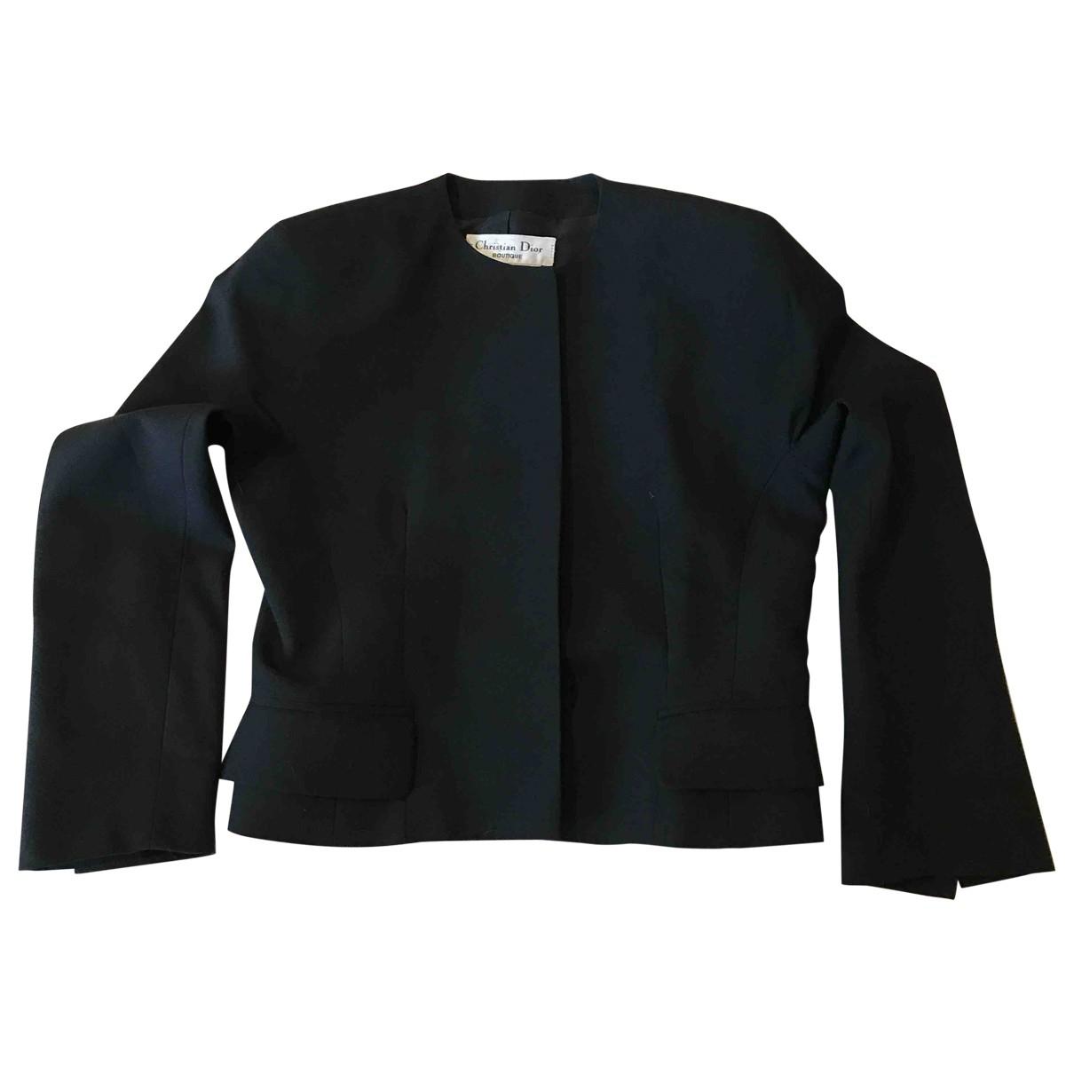 Dior \N Jacke in  Schwarz Wolle