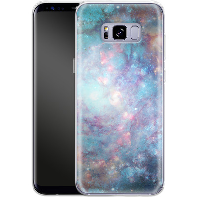 Samsung Galaxy S8 Plus Silikon Handyhuelle - Abstract Galaxy - Blue von Barruf
