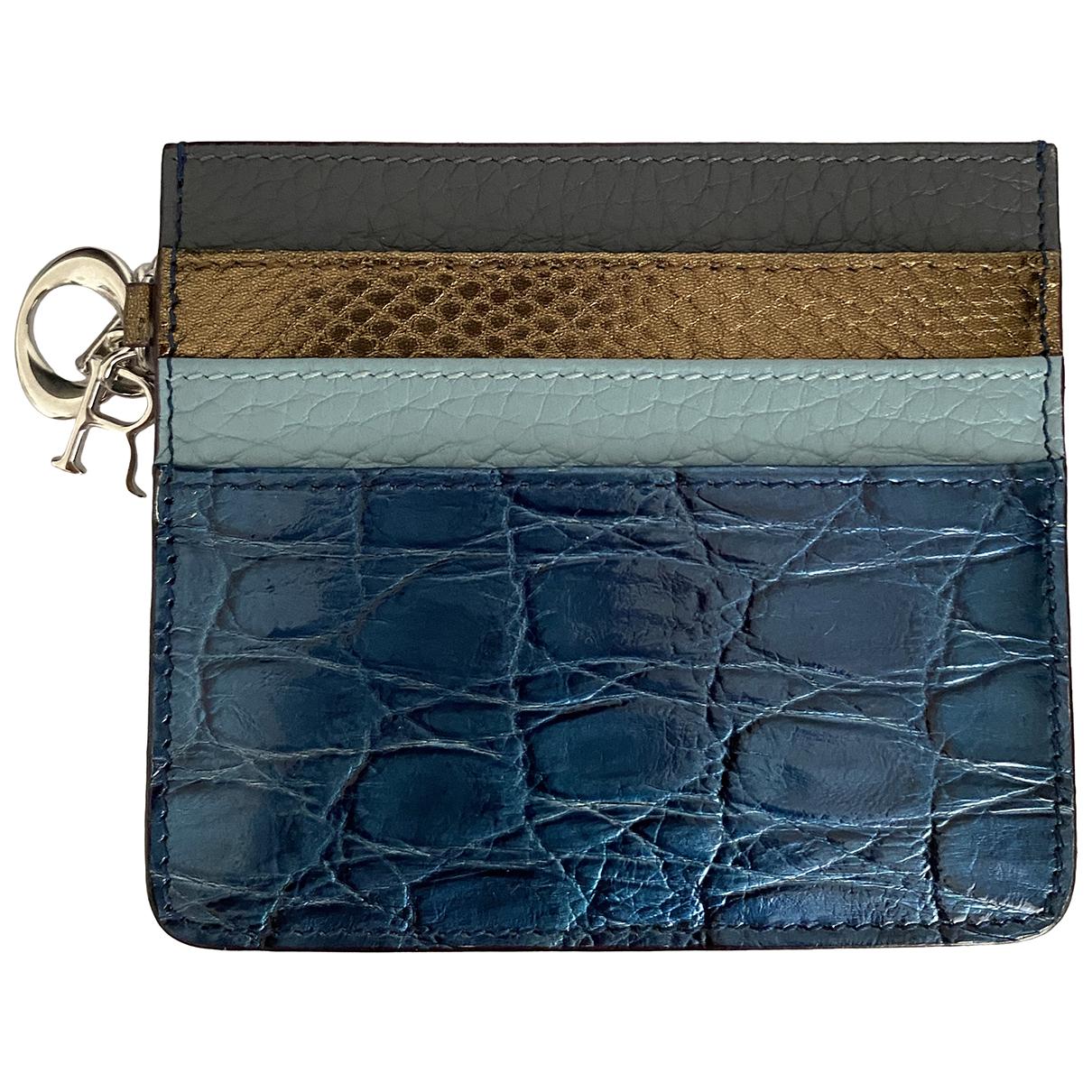 Dior \N Kleinlederwaren in  Blau Krokodil
