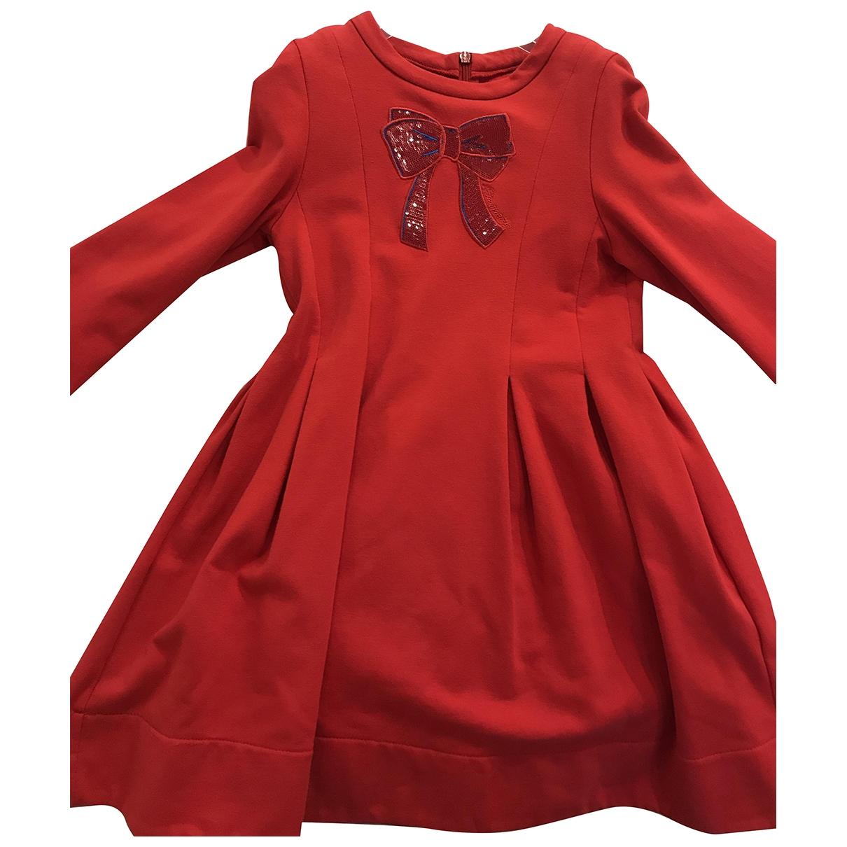 Simonetta \N Kleid in  Rot Baumwolle