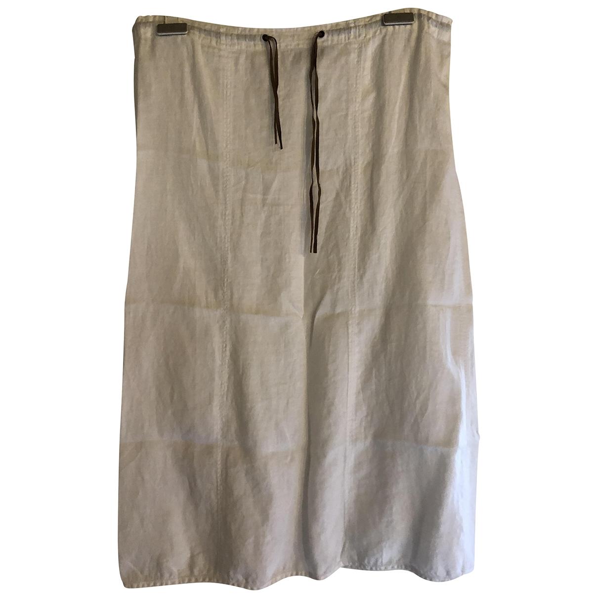 Emporio Armani \N White Linen skirt for Women S International