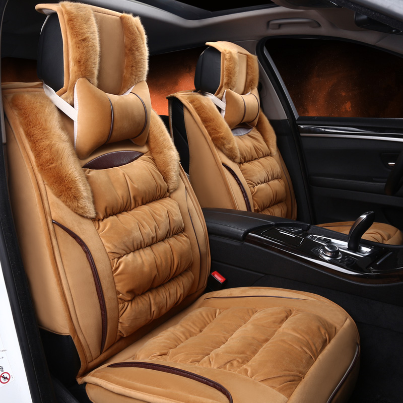 Warm Soft Material With Side Velvet Soft Decorate Universal Car Seat Cover