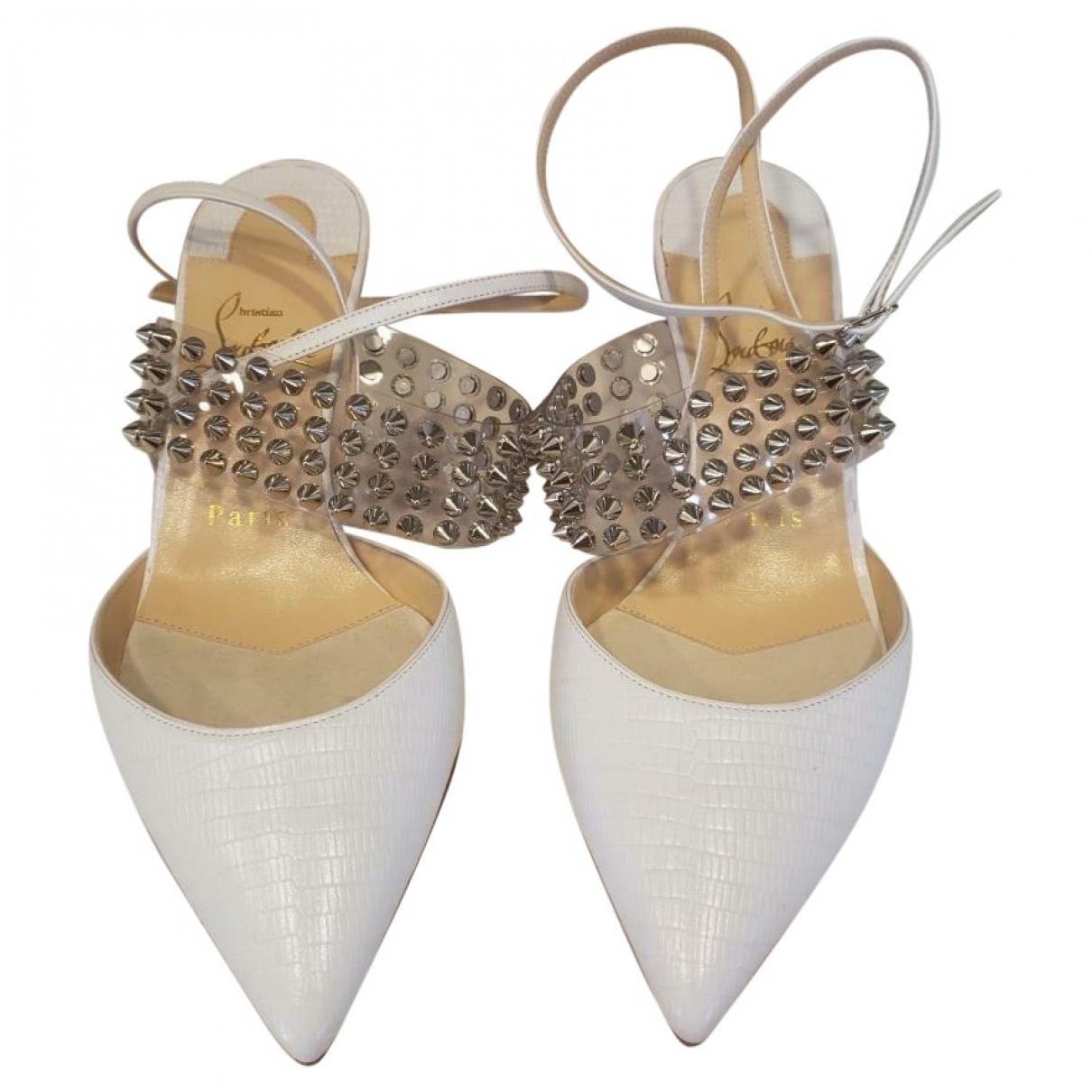 Christian Louboutin \N White Leather Heels for Women 37 EU