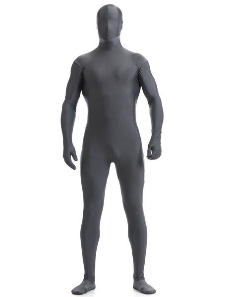Milanoo Disfraz Halloween Profundo gris Lycra Spandex Zentai traje para los hombres Halloween