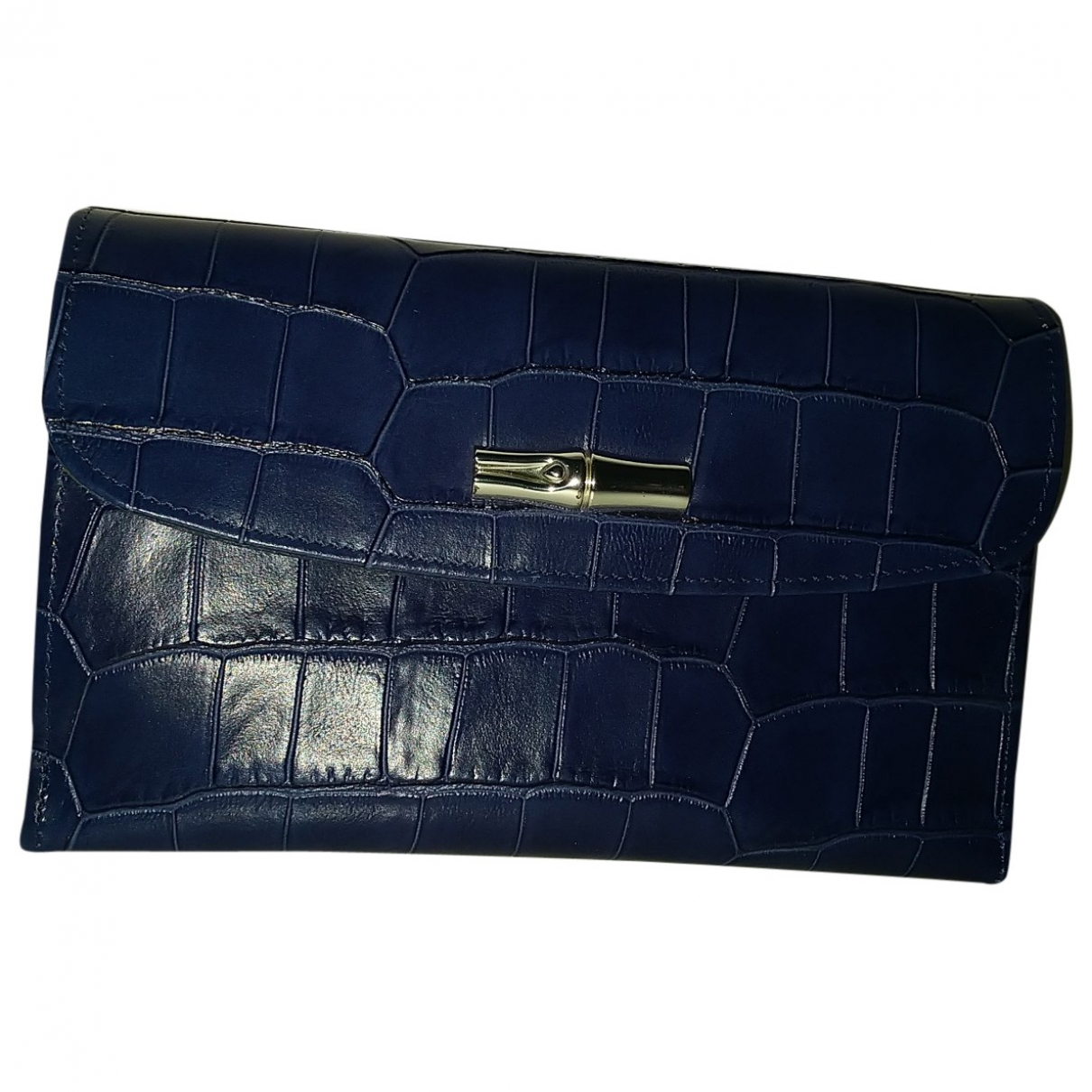 Longchamp \N Blue Leather wallet for Women \N