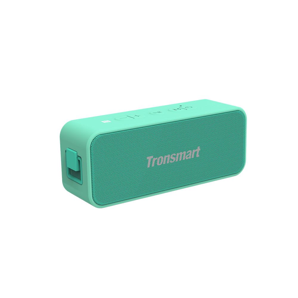 Tronsmart T2 Plus 20W Bluetooth 5.0 Speaker 24H Playtime NFC IPX7 Waterproof  Soundbar with TWS,Siri,Micro SD - Light Green