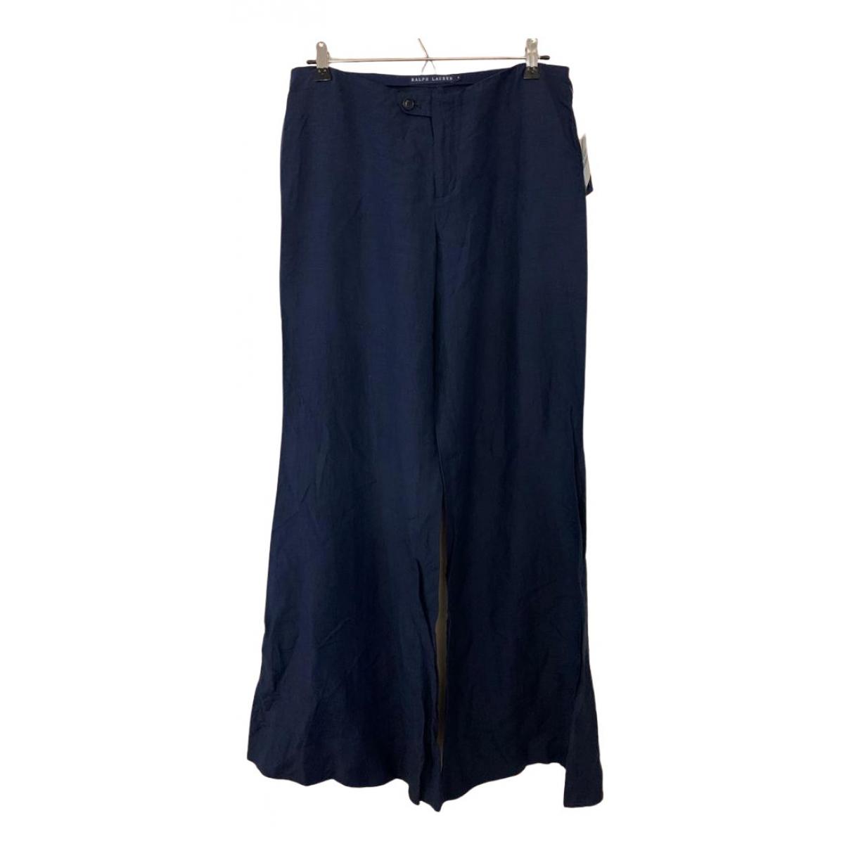 Pantalon largo de Seda Ralph Lauren