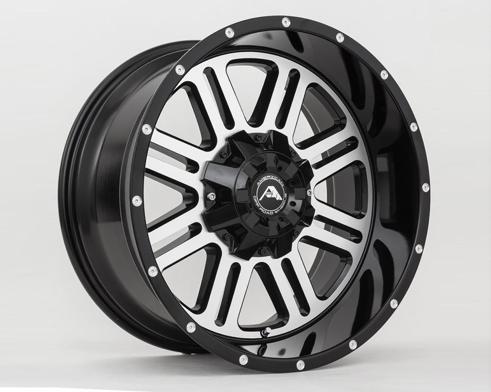 American Off-Road A10620A0539-24BMF A106 Black Machined Wheel 20x10 5x5.5(5x139.7) -24mm