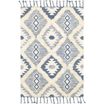 Apache APA-2304 8' x 10' Rectangle Global Rug in Dark Blue