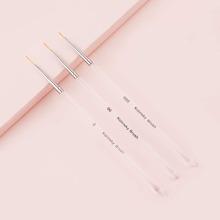 3pcs Transparent Nail Art Brush Set