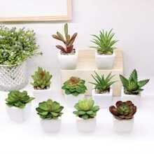 1 pieza planta en maceta artificial